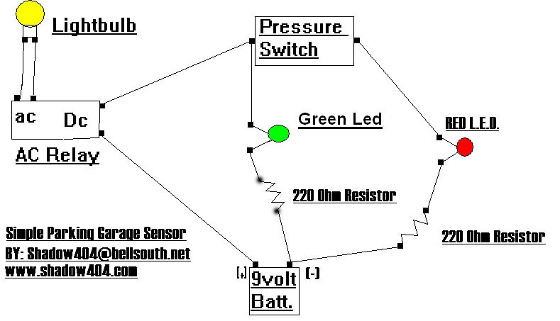 garage_park_sensor1 project garage door sensor garage door safety sensor wiring diagram at readyjetset.co